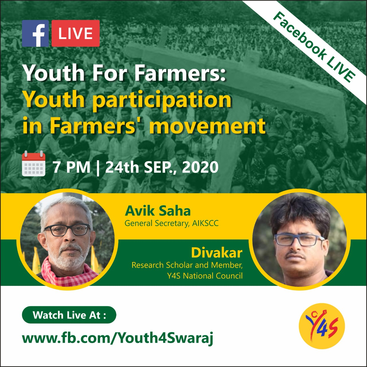 Youth4Swaraj event to support farmers' movement