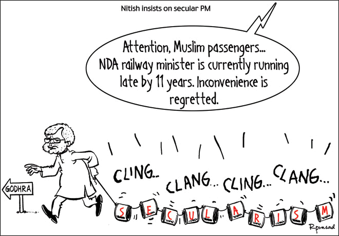 Nitish Cartoon