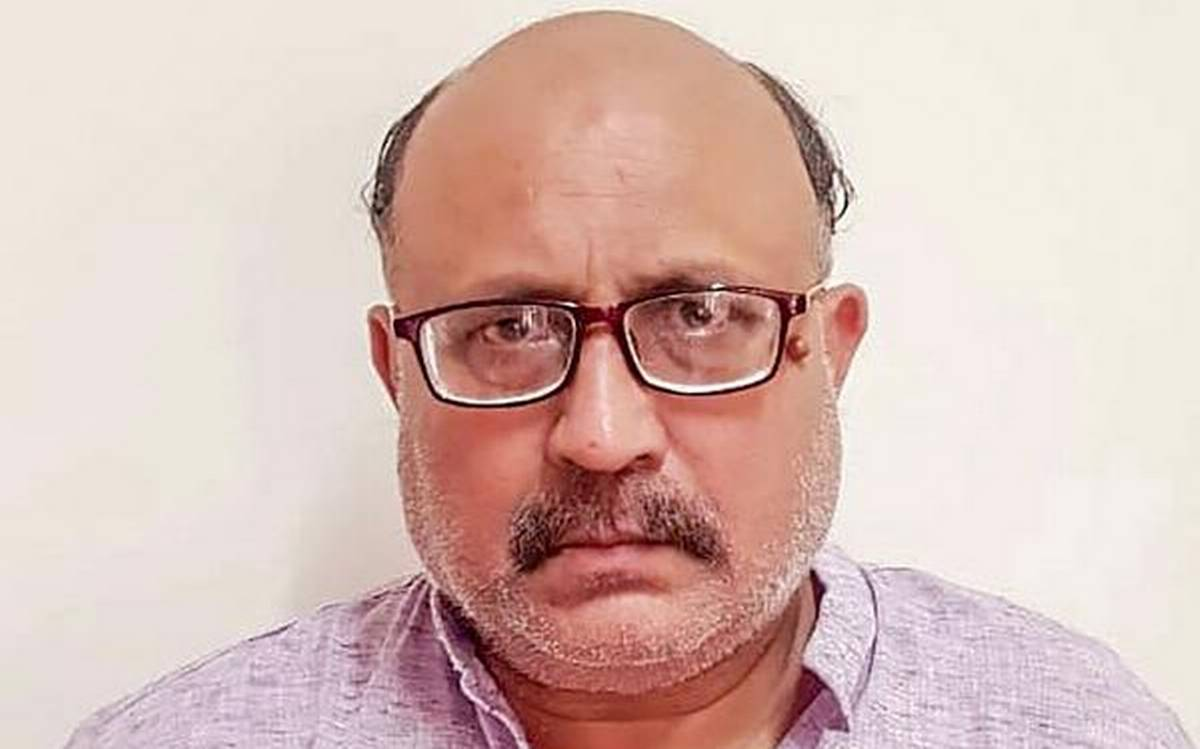 Journalist Rajeev Sharma, arrested by the Delhi police