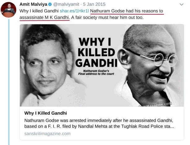 There S More Nathuram Godse Fans Are Also Followed By Pm Modi On Twitter Sabrangindia