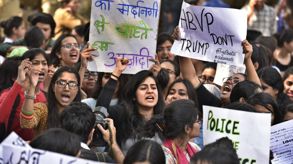 Protest against ABVP