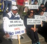 Dalit activists demonstrate in Canada in support of call for Bharat bandh