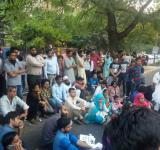 Najeeb SIT IN protest