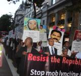London protest against mob lynching