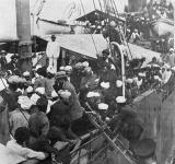 Sikhs aboard Komagata Maru in Vancouver's Burrard Inlet