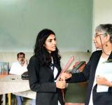 Isha Khandelwal (left) with Shalini Gera; and (right)  Image Courtesy: Ramesh Pathania/Mint