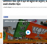 Dainik Jagran Opinion Poll UP