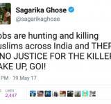 Twitter Sagarika Ghose
